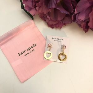 Kate Spade Symbols Heart Drop Earrings NWT